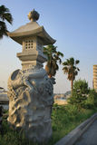Japanese stone lantern royalty free stock images