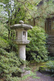 Japanese Stone Lantern in Garden Landscape Stock Photos