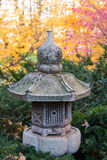 Japanese Stone Lantern. This is a stone lantern in the Japanese garden of the Minnesota landscape arboretum Royalty Free Stock Images