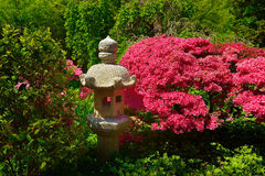 Japanese Stone Lantern in a garden Stock Photos