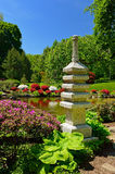 Japanese Stone Lantern in a garden Stock Images