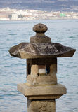 Japanese stone lantern Royalty Free Stock Photos