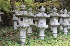 Japanese stone lantern Stock Photos