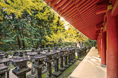 Japanese Stone Lanterns Royalty Free Stock Photography
