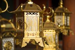 Japanese Stone Lanterns Stock Image
