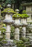 Japanese Stone Lanterns Royalty Free Stock Photos