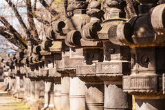 Japanese Stone Lanterns Royalty Free Stock Images