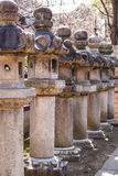 Japanese Stone Lanterns Royalty Free Stock Photo