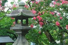 Japanese stone pagoda lantern Stock Images