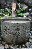 Japanese stone shrine Royalty Free Stock Photos