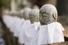 Japanese stone statue Ksitigarbha Bodhisattva Stock Image