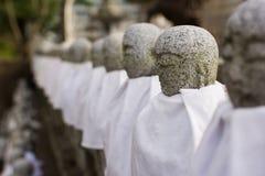 Japanese stone statue Ksitigarbha Bodhisattva Royalty Free Stock Photos