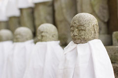 Japanese stone statue Ksitigarbha Bodhisattva Royalty Free Stock Photography