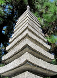 Japanese stone tower close up Stock Images