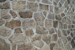 Japanese Stone Wall From A Castle Royalty Free Stock Photo