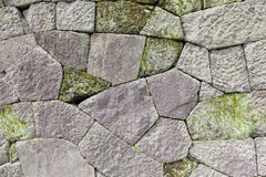 Japanese Stone Wall Detail. Close-up of the stone wall of a traditional Japanese castle Stock Images