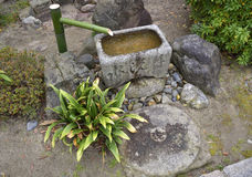 Japanese Stone Water Basin Royalty Free Stock Photography