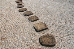 Japanese stone way Stock Photo
