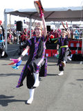 Japanese Street Festival Dancing Stock Images