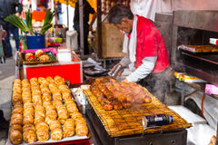 Japanese street food in Kyoto, Japan Royalty Free Stock Photography