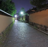Historical architecture by night Kanazawa Japan Stock Photo