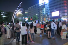 Street performer urban life Japan  Stock Photo