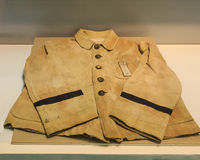 Japanese student uniform displayed in Hiroshima Peace Memorial Museum Stock Photography