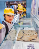 Japanese Students at Hiroshima Peace Memorial Museum Stock Photo