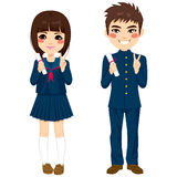 Japanese Students Uniform Stock Image