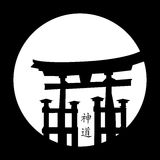 Japanese Style. Illustration of a japanese heritage isolated on moonlight Royalty Free Stock Images