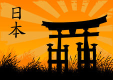 Japanese style. Vector illustration of a japanese style door Royalty Free Stock Photo