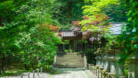 Japanese-style arches. In the woods royalty free stock photos