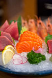 Japanese style assorted sashimi dish Royalty Free Stock Images