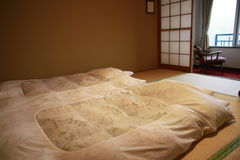 Japanese style bedroom Stock Photos