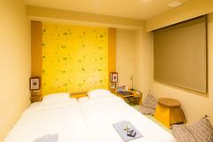 Japanese style bedroom Royalty Free Stock Image