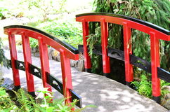 Japanese style bridge Royalty Free Stock Images