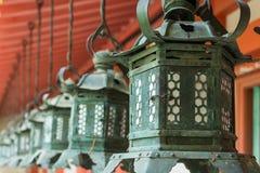 Japanese style bronze lantern Stock Images