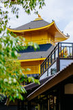 Japanese style castle in Thailand, mimics from Golden Temple (Kinkakuji Temple) of Japan. Stock Photos