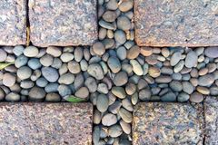 Japanese-style cobbled pavement, background. Royalty Free Stock Photography