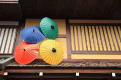 Japanese Style Colorful Umbrellas Royalty Free Stock Images
