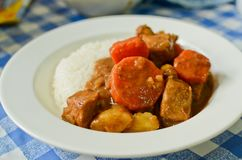 Japanese style curry rice Stock Photography