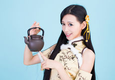 Japanese style cute school girl indoor home woman Stock Photography