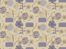 Japanese style  floral pattern Stock Images