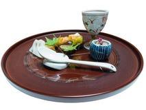 Japanese style food decoration isolated Royalty Free Stock Photography