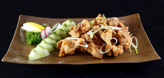 Japanese style fried chicken karaage Royalty Free Stock Photo