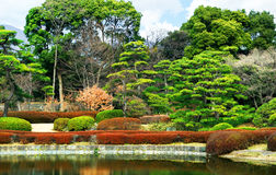 Japanese style garden Stock Photos