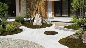 Japanese style garden. At Hasadera Shrine, Kamakura Royalty Free Stock Image