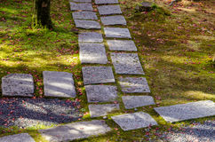 Japanese style garden in Kyoto Royalty Free Stock Photography