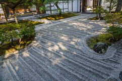 Japanese style garden in Kyoto Royalty Free Stock Photos