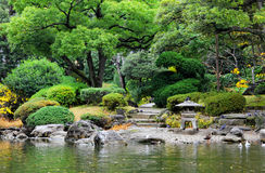Japanese style garden Royalty Free Stock Images